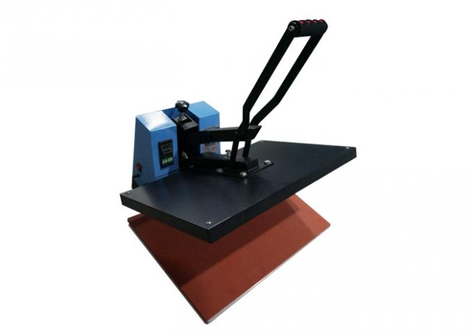 High Efficiency Manual Heat Press Machine Teflon Coated For Bags