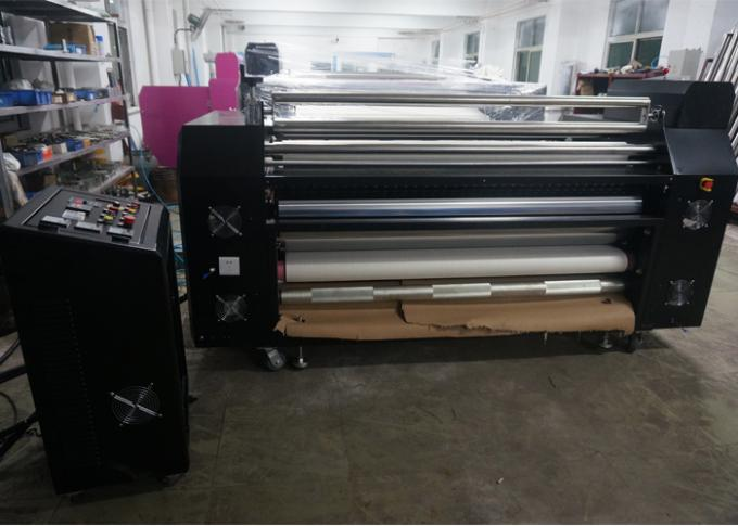 Cylinder Rotary Heat Transfer Machine Roll Transfer For Fabric
