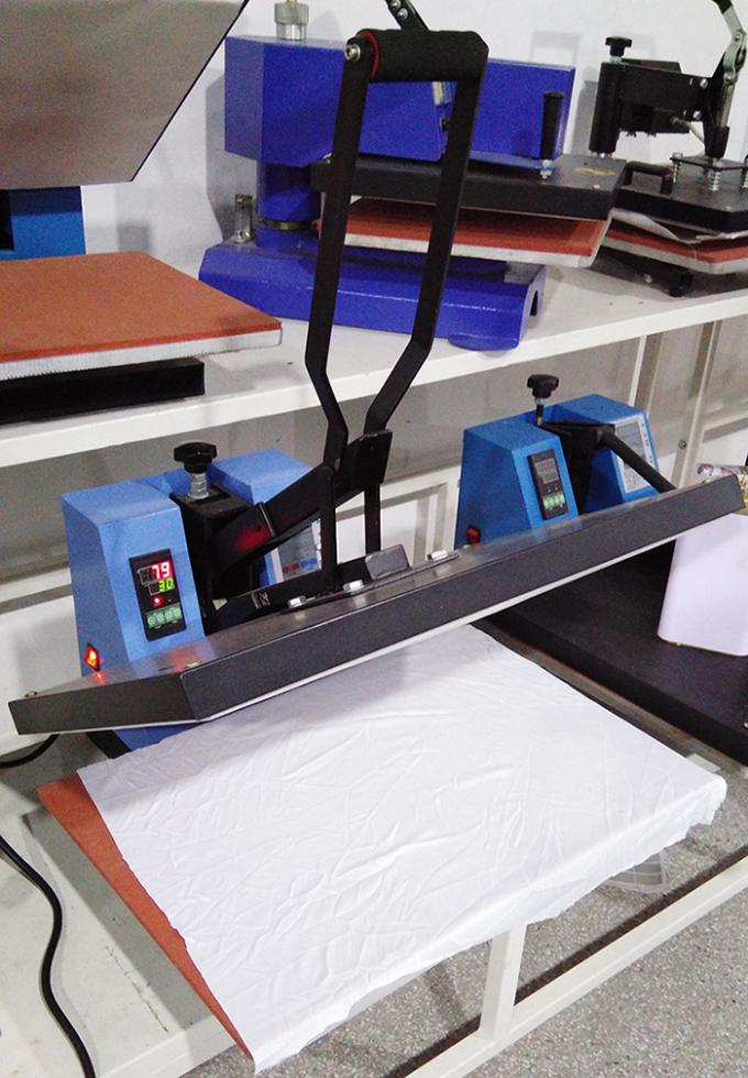 OEM Manual Heat Transfer Printing Machine With 38 X 38CM 12 Months Warranty