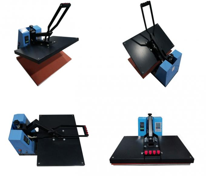 Small Manual Sublimation Printing Garment Heat Press Machine Energy Saving 2.2KW