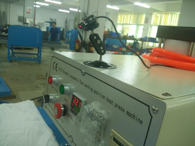 Pneumatic System Automatic Heat Press Machine with Four Working Bench