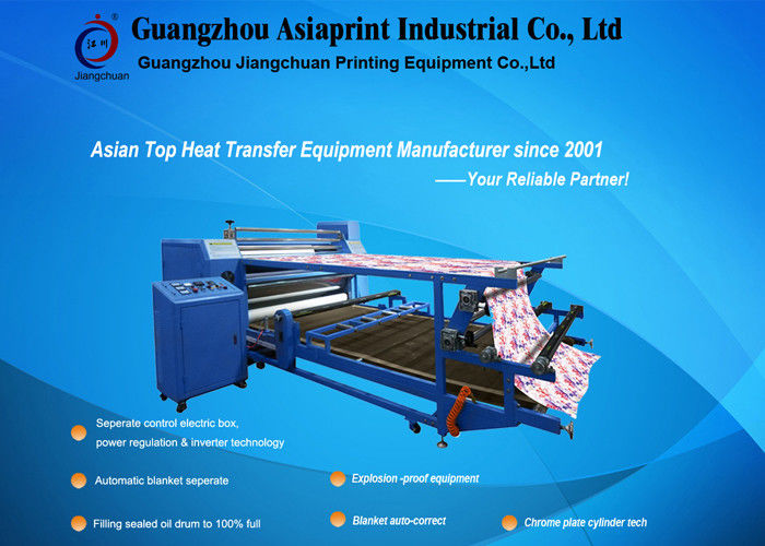 419364548 3.2 M Wide Roller Style Roller Rotary Heat Transfer Machine Automatic